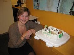 TD Garden Celtics Cake! #celtics #baking #cakes