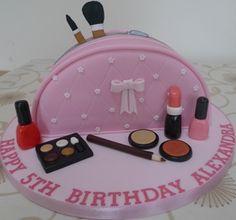 Makeup Bag Cake Tutorial Clarins cosmetics - elf