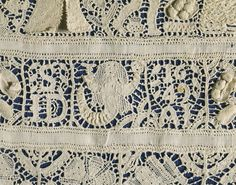Linen, embroidered with linen, with cutwork and drawn thread work