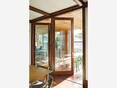 Modern Home Interior With Bifold Accordion Doors
