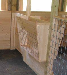 Barn Stalls, Horse Stalls, Horse Barns, Stables, Horse Hay, Keeping Goats, Raising Goats, Raising Farm Animals, Goat Feeder