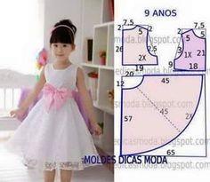COMPARTE Y COMENTA 21 patrones de vestidos para niña, manualidades que encantan tanto a quien las cose como a quienes las lucen, especiales para tu familia