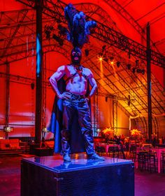 """The event had a theme of """"Eyes Wide Shut,"""" which CL22 Productions created with S&M touches such as costumed characters wearing feathers, lat... Photo: Sean Twomey/2me Studios"""