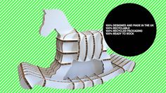 flat-pack cardboard rocking horse of course