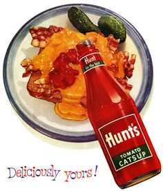 We Love Typography: :: Vintage Ads :: Mid-Century Modern :: Bacon, Cheese & Catsup, 1954 Retro Recipes, Vintage Recipes, Types Of Salad, Retro Advertising, Retro Ads, Smoky Bacon, Vintage Ads, Vintage Food, Retro Food
