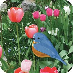 Perfect for Easter! Set of six Bluebird notecards
