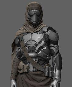 43 ideas sci fi concept art cyberpunk armors for 2019 Star Citizen, Suit Of Armor, Body Armor, Armor Concept, Concept Art, Desert Nomad, Desert Art, Futuristic Armour, Futuristic Helmet