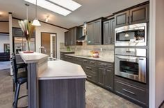 Kitchen island & kitchen (double oveninstead of oven and microwave)