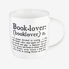 Have breakfast with the beautiful Buongiorno Mug: Book lover (booklover). It is certified for alimentary use as well as dishwasher and microwave safe. Play And Stay, Dream Book, Porcelain Mugs, Book Lovers, Tableware, Books, Office Accessories, Diys, Frames