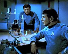 """Spock; """"So the next logical move would be..."""" McCoy, thinking: """"Oh crap, their filming me right now!"""""""