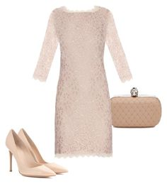 """""""lace and nude"""" by summerbutterflies on Polyvore featuring Gianvito Rossi, Alexander McQueen, Diane Von Furstenberg, lace and nude"""