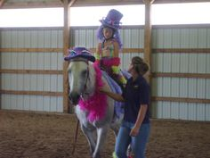 My first costume class. This horses name is Mazie and this photo was taken in July of 2008. I was 9 years old. This photo was taken a few months before my riding accident.