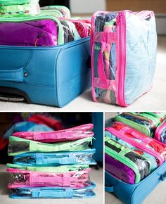 to Travel With a Family and ONE Suitcase How to Maximize Space in Your Luggage: You'll be amazed at what's in this suitcase packing tips and hacks for your next family vacation
