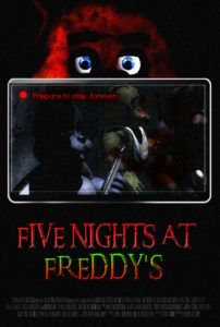 Scariest frickin' horror game ever. I recently watched Markiplier's playthrough of 'Five Nights at Freddy's' and man I was just . FIVE NIGHTS AT FREDDY'S Video Game Movie Poster Video Game Movies, Horror Video Games, Fnaf Movie, The Last Star, Scary Games, Freddy Fazbear, Freddy S, Five Nights At Freddy's, Free Games