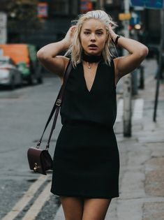 Elegant Turtle Neck sleeveless top, with a deep V and sheer back-side. For those dressy evenings, when you want to simply look chic and show a little skin, but not too much. - Green Fashion by NOUMENON #vegan #veganfashion #ethicalfashion