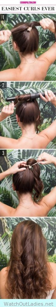 How to get curls really quick