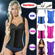 2027b8f9da 3 hooks vest corset latex waist traine latex Latex Vest Waist Trainer Blet Waist  Training Vest Hot Body Shaper Waist Cincher And Waist Training Corsets 9 ...