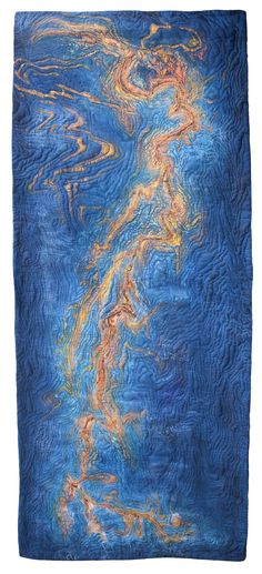Gulf of Mexico art quilt by Isabelle Wiessler  (Germany)