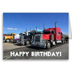 American Trucks Happy Birthday Greeting Card Detroit Cars Used Tow Truck