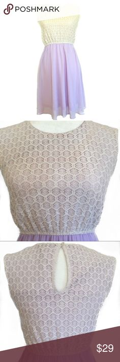 Altar'd State Lavender & Cream Lace Dress   Sz S Worn a handful of times with many compliments! Elastic waistband accentuates natural waist, highlighting your shape. Altar'd State Dresses