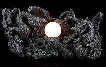 Drachenlampe - Zwei Drachen kämpfen um Lichtkugel