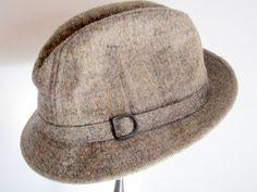 Vintage Tweed fedora size XL/ Mad Men by VintageWearTreasures, $35.00