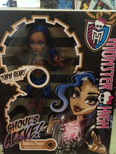 I saw this on google and I hoped it was true that this doll would come out...I am not really a fan of moving dolls but I like ghouls alive Spectra and this Robecca is really cool. What this doll is supposed to do is you turn her gear and her chest opens up and reveals her heart like off the 5th Monster High movie FRIGHTS CAMERA ACTION!(I think and I hope!)