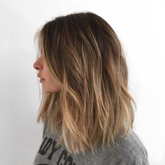"""""""Low maintenance blonde hair for this natural brunette #hair #Haircolor #color #blonde #blondehair #brunette #brunettehair #lowmaintenancehaircolor by…"""""""