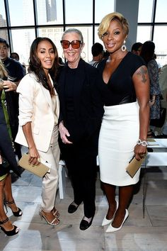 Jada Pinkett Smith, Joan Kors, and Mary J. Blige