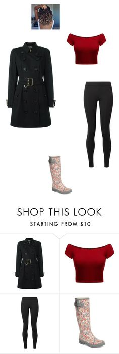 """""""Rainy Days with Vlad"""" by maryvarleyrox ❤ liked on Polyvore featuring Burberry, The Row and Chooka"""