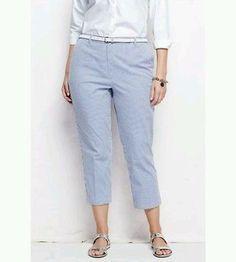 9e9f1fa0073 LANE BRYANT Blue Cropped Weekend Pants Plus Size 24W Pants For Women