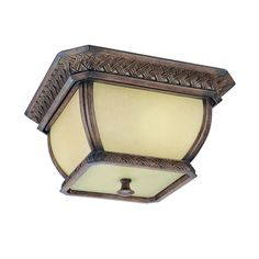 Biscayne Two-Light Outdoor Fluorescent Flush Mount