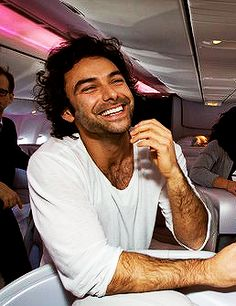 Aidan Turner - laughter suits him.