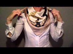How to tie a silk scarf Как завязывать шелковый платок - YouTube