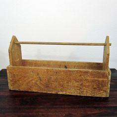 Vintage Wooden Carpenters Toolbox