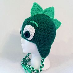 PJ Masks Gekko Earflap Hat Crochet Hat by TheCranberryCreek