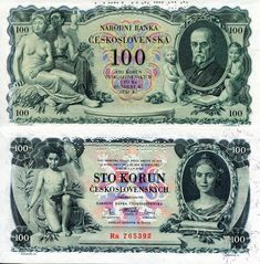Czechoslovakia Korun banknotes for sale. Dealer of quality collectible world banknotes, fun notes and banknote accessories serving collectors around the world. Over 5000 world banknotes for sale listed with scans and images online. Money Template, History Of Philosophy, African States, Money Worksheets, First Day Covers, World Coins, Coin Collecting, Retro, Fantasy Art