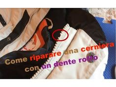 Come riparare una cerniera con un dente rotto - YouTube