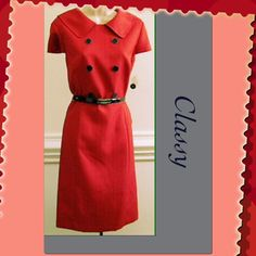 Alex Marie classy red button dress Brand new super classy vintage style red dress. The dress is a size 4 petite. Alex Marie Dresses