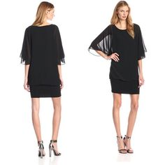 NWT Made in 🇺🇸 Flutter Sleeve Dress Adorable NWT MSK flutter sleeve dress. Size small, black. Made in the United States! 🇺🇸 100% polyester, hand wash. The banded hem allows you to pull the length longer or shorter, as desired. Looks great with heels and silver jewelry! MSK Dresses Mini