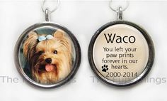 2-Sided Custom Personalized Pet Memorial Photo Message Pendant Charm Keepsake #Handcrafted