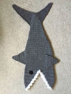 Free Pattern Crochet Shark Blanket : Crochet Shark Baby Lovey by YarnCreationsByKarla on Etsy ...