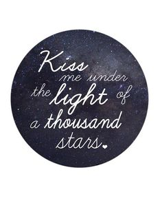 Under the light of a thousand stars.