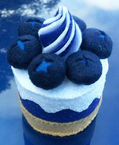 Sapphire Blueberry Anniversary Felt Cake by ykansaki
