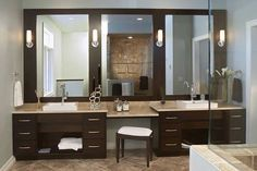 Master Bath Dual sink vanity wish lists items. Vanity Sink, Double Vanity, Interior And Exterior, Dining Table, Mirror, Furniture, Design, Home Decor, Master Bath