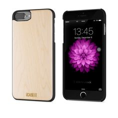 iCASEIT iPhone 8 Plus Wood Case - Premium Finish Unique Cases - Lightweight Natural Wooden Hybrid Snap-on Protective Cover for iPhone 7 & 8 Plus - - Cherry Wooden Case, Best Iphone, Iphone Accessories, Iphone 7 Plus Cases, Apple Watch, Projects To Try, Cherry, Bamboo, Places