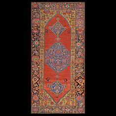 Antique Persian Tribal - N.W.Persian - 19625   Persian Tribal 3'10 x 8'6   Red, Origin Persia, Circa 1870