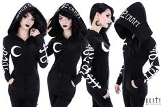 Restyle Symbol Hoodie with Witchcraft Print - £39.99 : From ANGEL CLOTHING