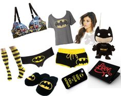 """""""Bed Time Batman"""" by tianna-1 ❤ liked on Polyvore"""