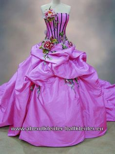 Ballkleid Jasmine mit Corsage in Fuchsia